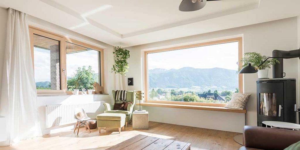 Internorm Fenster im Wohnzimmer